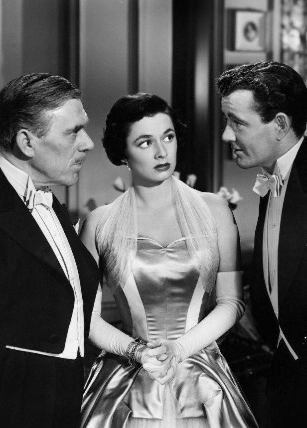 "Leo G. Carroll, Ruth Roman and Robert Walker in ""Strangers on a Train"" (1951)"