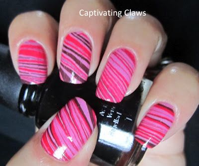 striped water marbleMakeup Nails, Stripes Water, Nails Art, Pretty In Pink, Nails Design, Beautiful, Fathers Day, Nails Polish, Water Marbles Nails