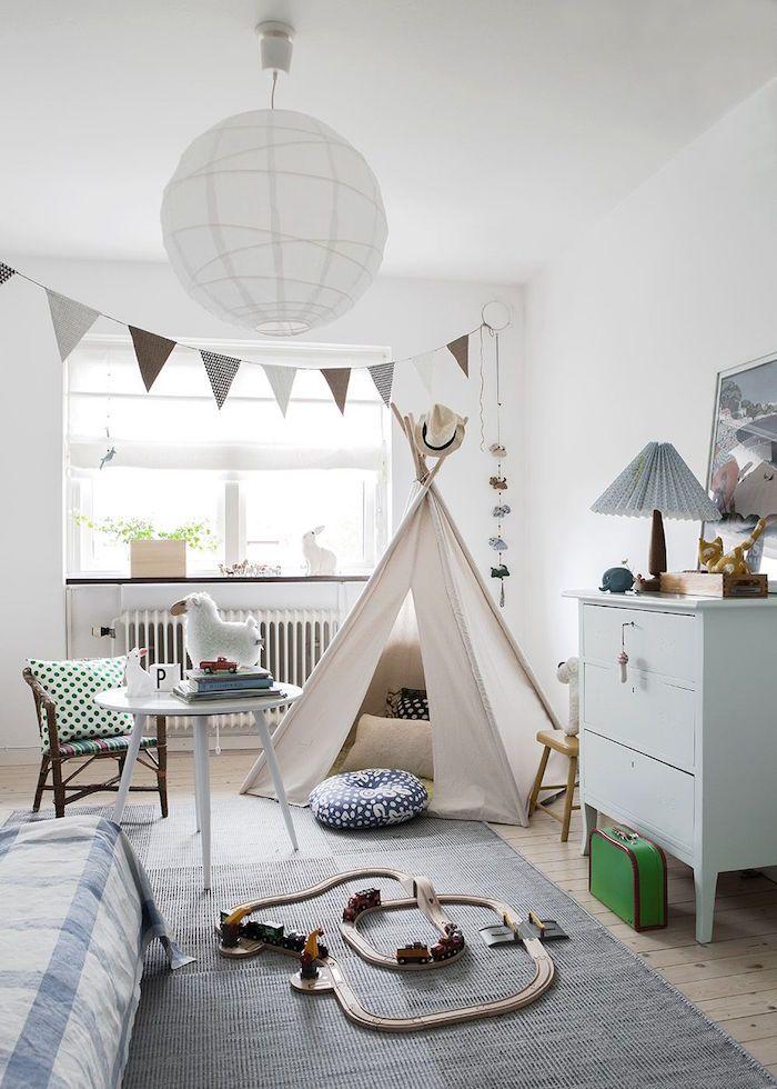 quelle deco pour chambre garcon scandinave blanche avec meubles suedois en bois