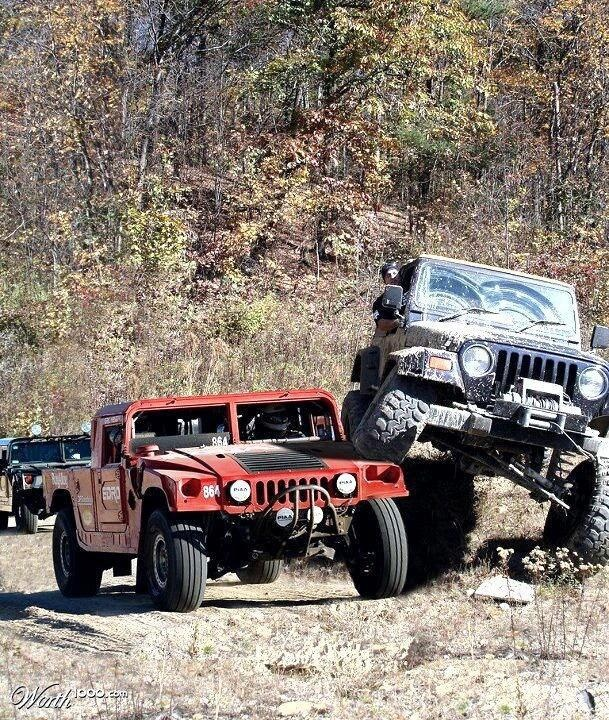 Charley Sheen must be driving that jeep......Winning!