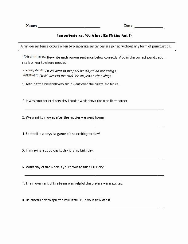 Run On Sentence Worksheet Best Of Rockin Resources Writing Mini Lesson 4 Run Sentences Chessmuseum Template Lib In 2020 Run On Sentences Sentences Sentence Fragments Sentences and fragments worksheets