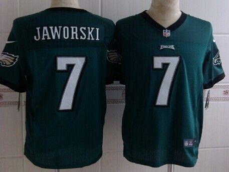 Cheap Wholesale 2014 Regular Season Mens Philadelphia Eagles #7 Ron Jaworski Nike Green Elite Jersey Size 40-56 Instock,Factory Price,Free Shipping,Contact US