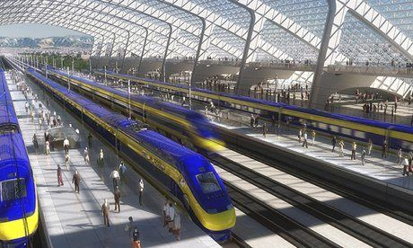 California's first high-speed rail link: artist's impression