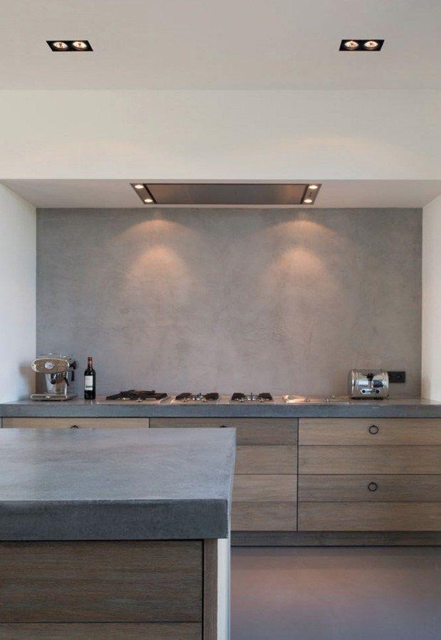 Pin By Topciment On Microcement Projects Kitchen Splashback Tiles Polished Plaster Kitchen Splashback