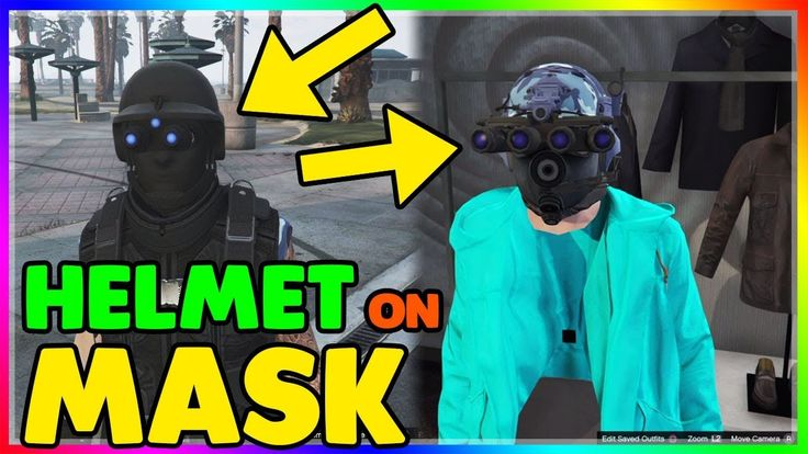 HELMET ON MASK Glitch  (GTA Online 1.41) How to put a Helmet and a Mask ...