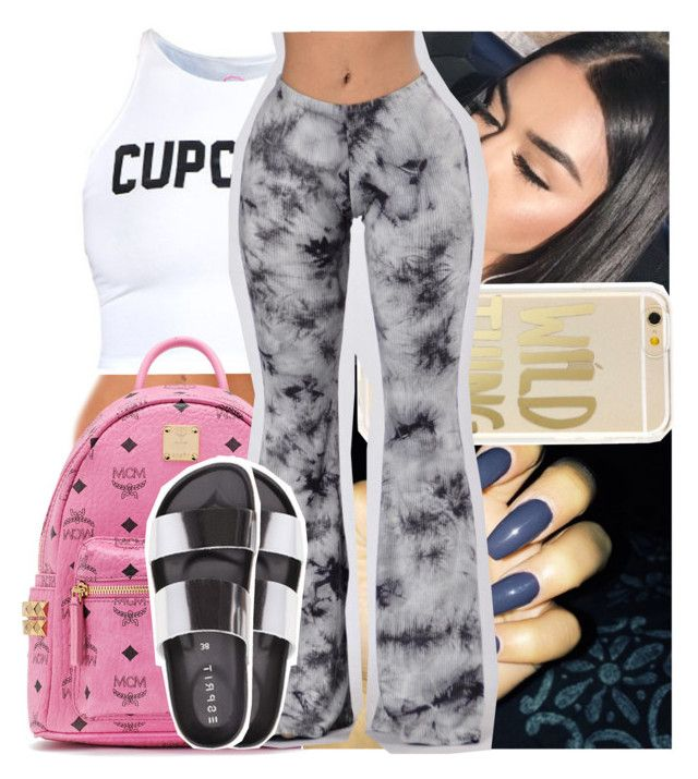 """""""I can hardly focus can you poke it out for me."""" by theyknowtyy ❤ liked on Polyvore featuring MCM"""