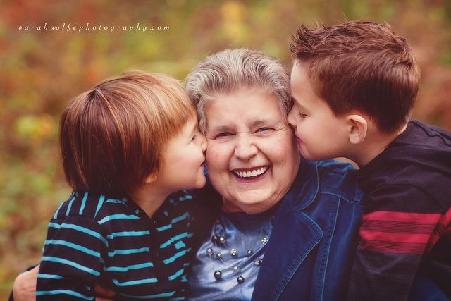 With Grandma by sarah wolfe photography