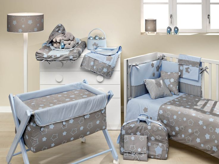 Nueva linea de Ros textil Estrelle, para que tu bebé viaje por la Vía Láctea mientras sueña, disponible en celeste.