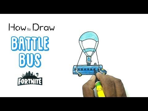 how to draw the battle bus from fortnite - fortnite battle bus drawing easy