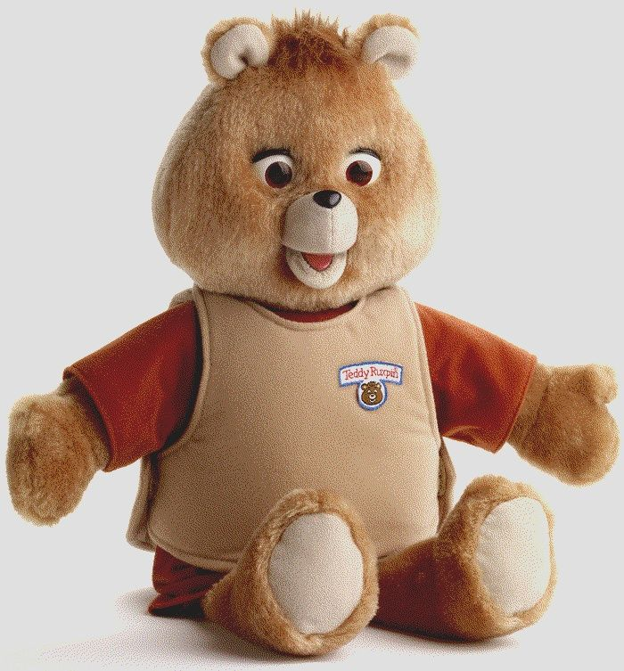 Teddy Ruxpin first appeared in 1985 and was intended as an educational toy that would help and encourage young children to learn to read. Description from childofthe1980s.com. I searched for this on bing.com/images