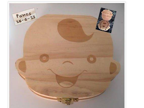 Personalized Wooden Tooth Box customized wooden baby tooth