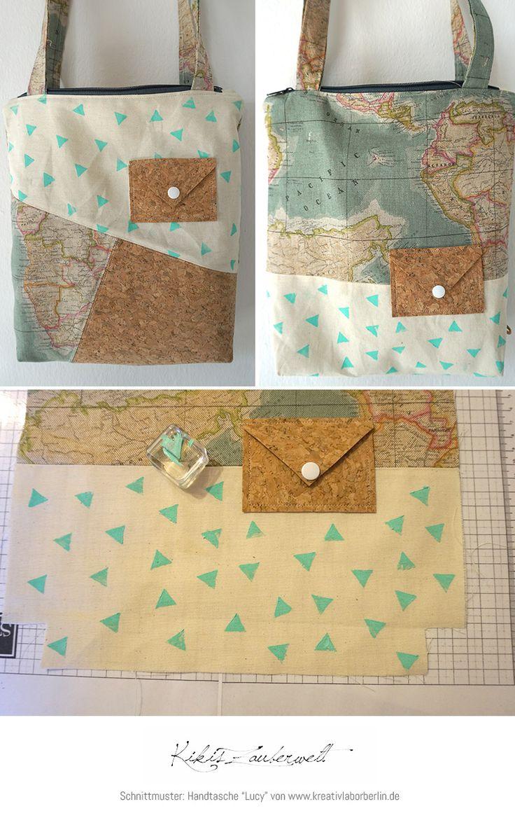 """Tasche """"Lucy"""" von Kikis Zauberwelt: http://de.dawanda.com/product/104785139-schnittmuster-tasche-lucy-9-naehvarianten"""