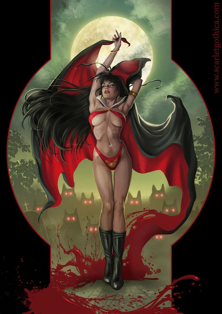 Vampirella. by Claudia-SG.deviantart.com on @deviantART