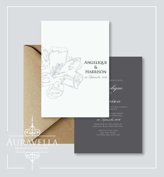 Wedding invitation suite. Printable wedding by Auravella on Etsy