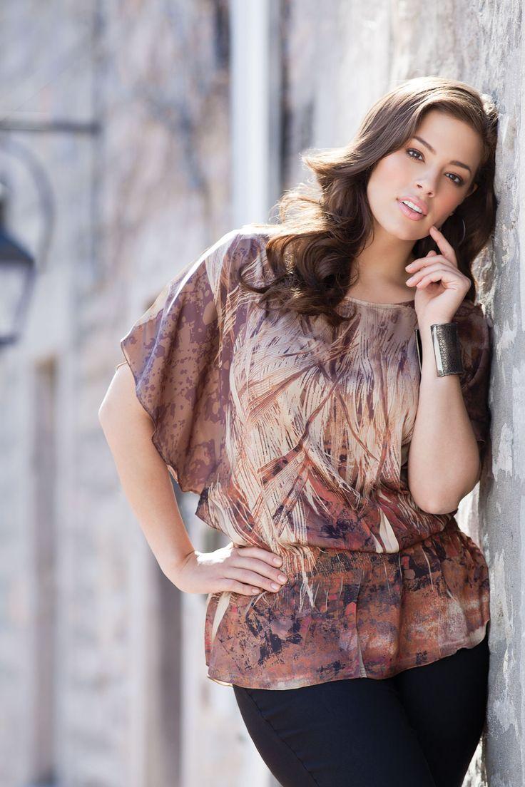 Ashley Graham in Addition Elle Fall 2011 Look Book #additionelle #ashleygraham…