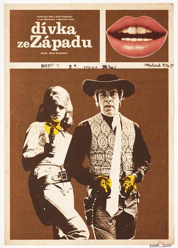 Movie Poster CAT BALLOU Jane Fonda Western Poster Original