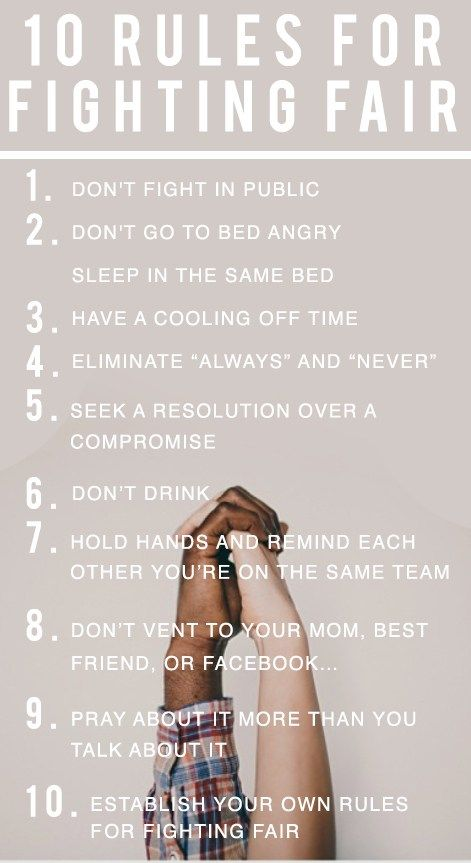 10 Rules for Fighting Fair in Marriage www.beating50percent.com