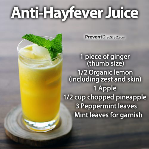Photo: Forget Antihistamine Meds and Steroid Nasal Sprays - Make Your Own Natural Anti-Hayfever Juice http://preventdisease.com/news/14/070614_Forget-Antihistamine-Meds-Nasal-Sprays-Make-Your-Own-Natural-Anti-Hayfever-Juice.shtml There are very specific and dangerous side effects involved with using medications to control allergies and histamine responses. For millions of hayfever sufferers, there are low-cost and extremely effective natural juices that are healthy, tasty and capable of ...