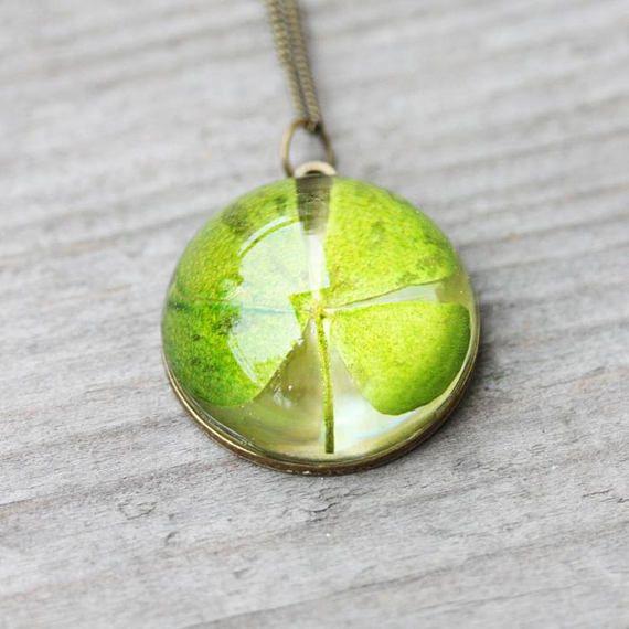 Lucky necklace Four leaf clover necklace Clover necklace
