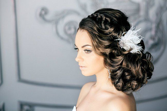Best 25+ Curly Wedding Hairstyles Ideas On Pinterest