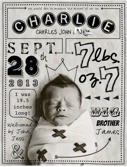 Unique birth announcements >> http://redtri.co/1aMNAP7 #baby #newborn