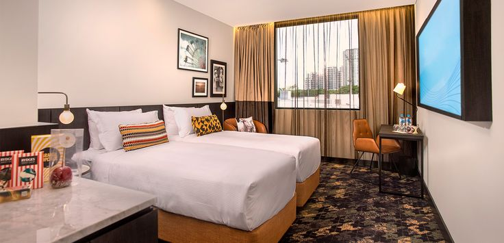 A Superior Twin Room at Rydges Fortitude Valley.