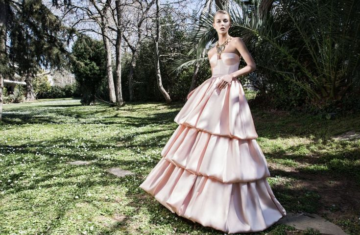 Can you think pink? Fabulous Silky Pink Wedding Dress by Ioannis Koktsidis #ioanniskoktsidis #operafhouse