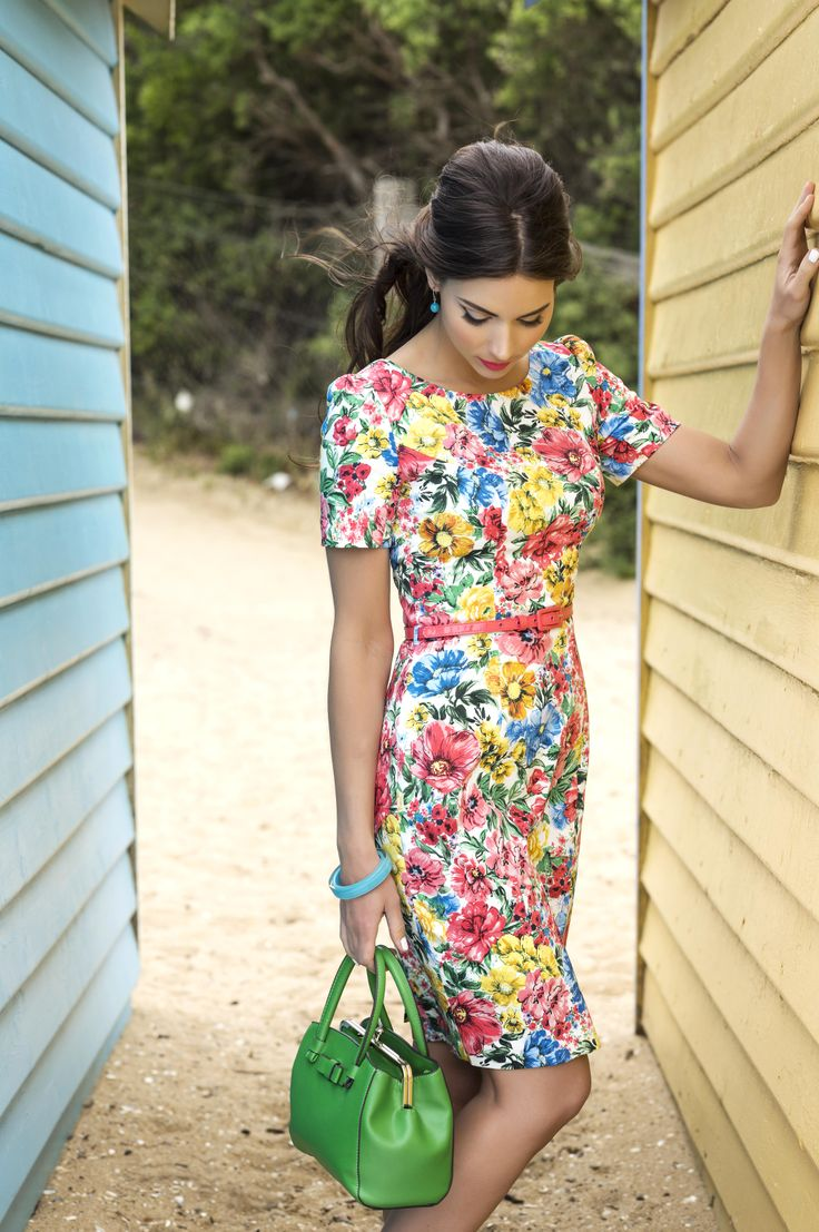 Vintagef floral dress from Review | Whimsy Dress > http://bit.ly/1bJ04fv   #summerbythesea #whimsydress #reviewaustralia