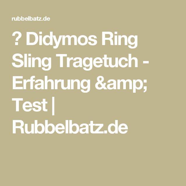 ✪ Didymos Ring Sling Tragetuch - Erfahrung & Test | Rubbelbatz.de