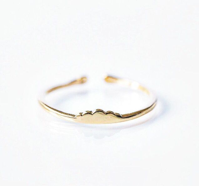 """Bo Zenith """"Beyond the clouds"""" ring adjustable and available in 18k plated Gold & Rose Gold or Solid Silver 925 < bozenith.com.au"""
