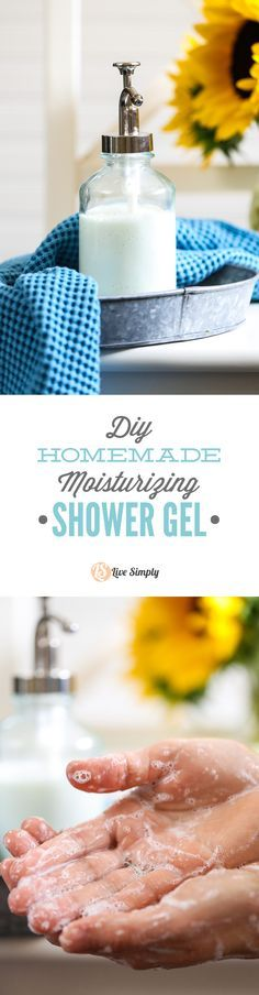 Rich and creamy moisturizing shower gel! This stuff is so easy to make and leaves my skin squeaky clean. LOVE!
