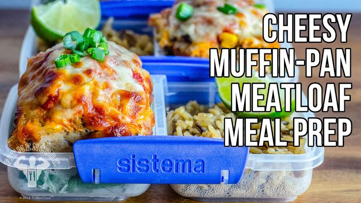 Cheesy Muffin-Pan Meatloaf Meal Prep in 1-Minute / Pastel de Carne de Pavo