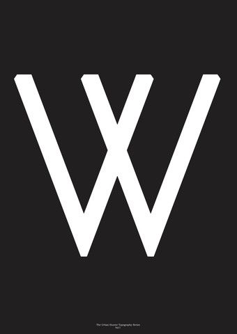 Typography Art Print - 'W'