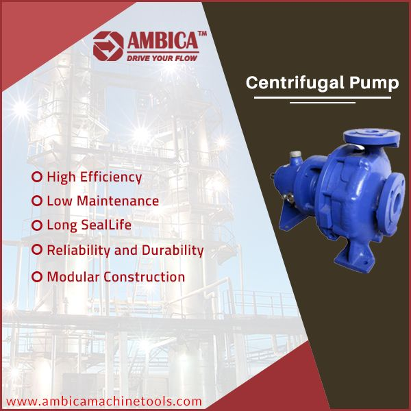 #AmbicaMachineTools is designed #CentrifugalPump specially for applications that require hygienic & corrosion resistant working atmosphere. 🌐 http://www.ambicamachinetools.com/centrifugal-pump-manufacturer.htm
