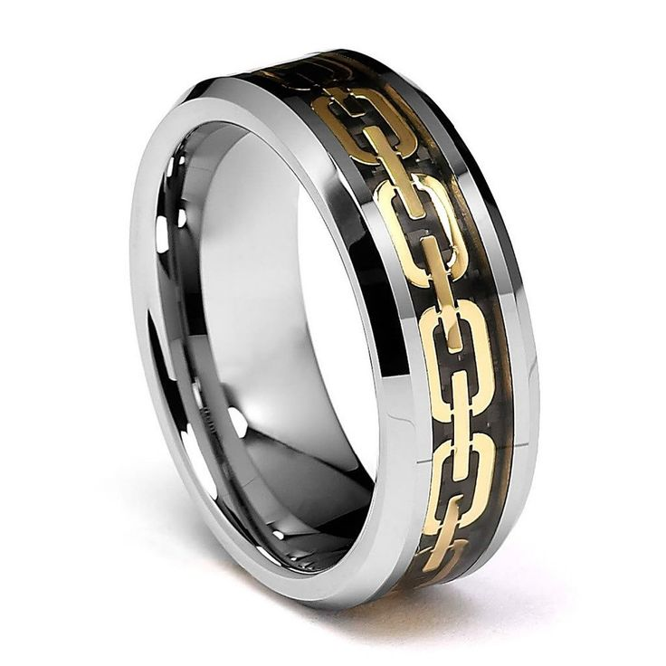 cheap wedding men ring buy quality tungsten ring directly from china men ring suppliers queenwish tungsten ring beveled edge gold chain link inlay wedding - Badass Wedding Rings