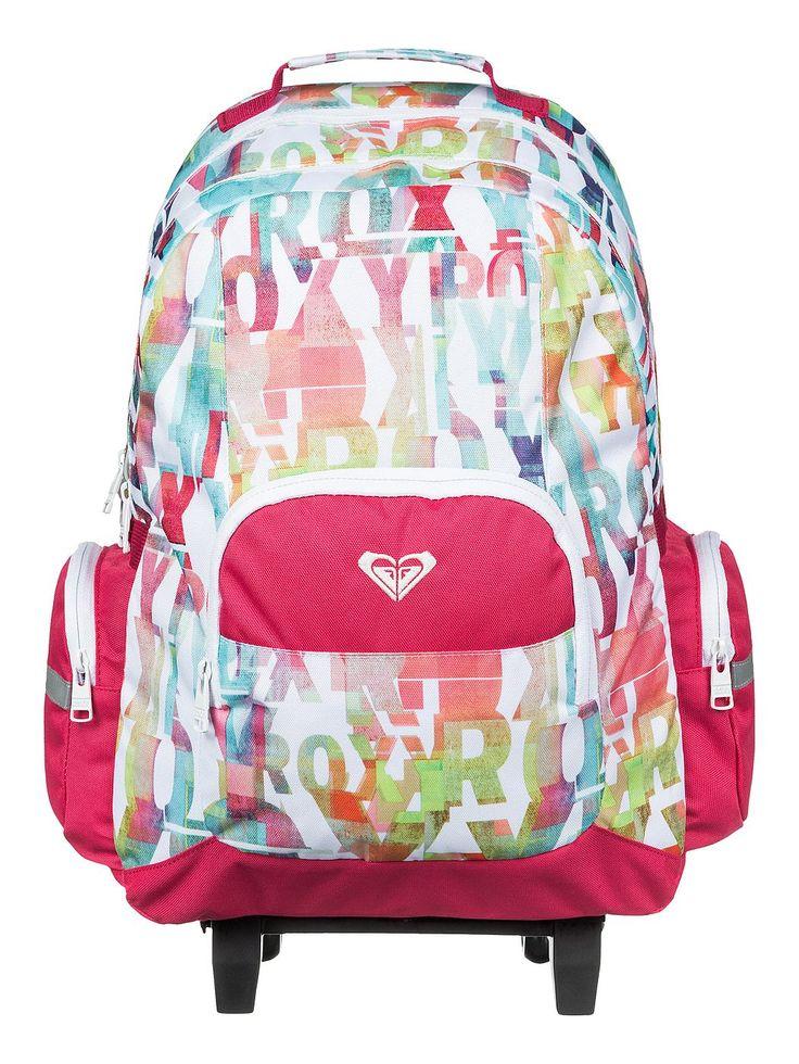 Free Spirit - Roxy Trolley-Schulrucksack für Mädchen Free Spirit Trolley-Schulrucksack von Roxy. Die Eigenschaften dieses Produkts sind: 2 Hauptfächer im A4-Format mit Zip, Reißverschlusstasche vorne und 2 seitliche Reißverschlusstaschen. Dieses Produkt besteht aus: 100% Polyester. Merkmale: Trolley-Schulrucksack, 2 Hauptfächer im A4-Format mit Zip, Reißverschlusstasche vorne, 2 seitliche Re...