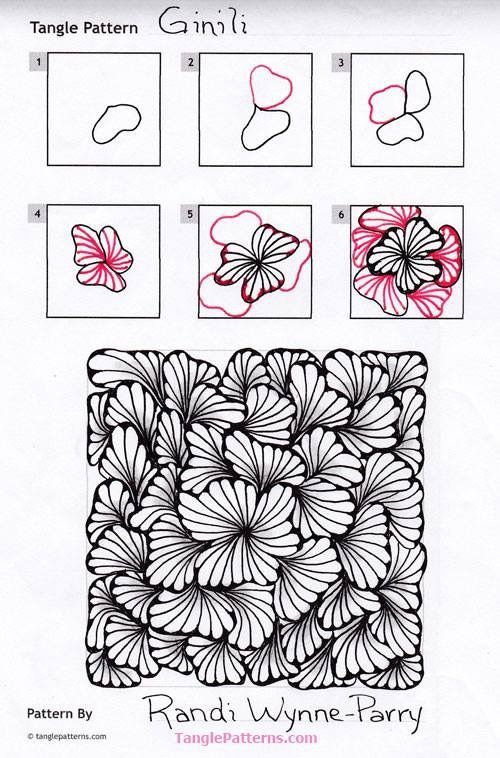 Ginili pattern by Randi Wynne-Parry | Zentangle patterns & more ...