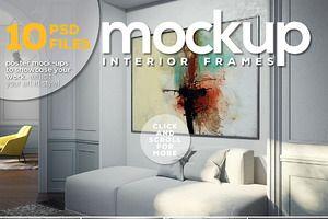 Poster Mock-up vol.9-Interior Frames