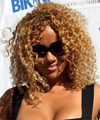 Christina Brave Williams Hairstyle - Casual Medium Curly diamond face shape hair style