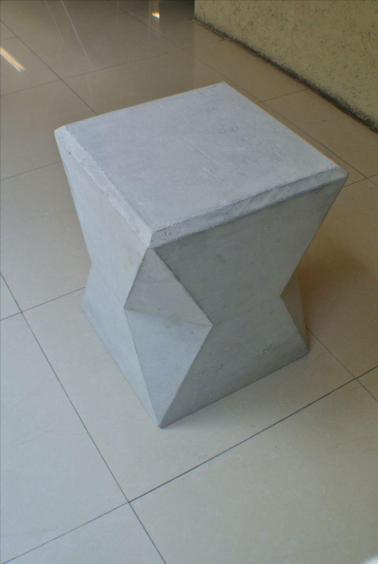 Banco de concreto arquitectonico. White concrete, Design.