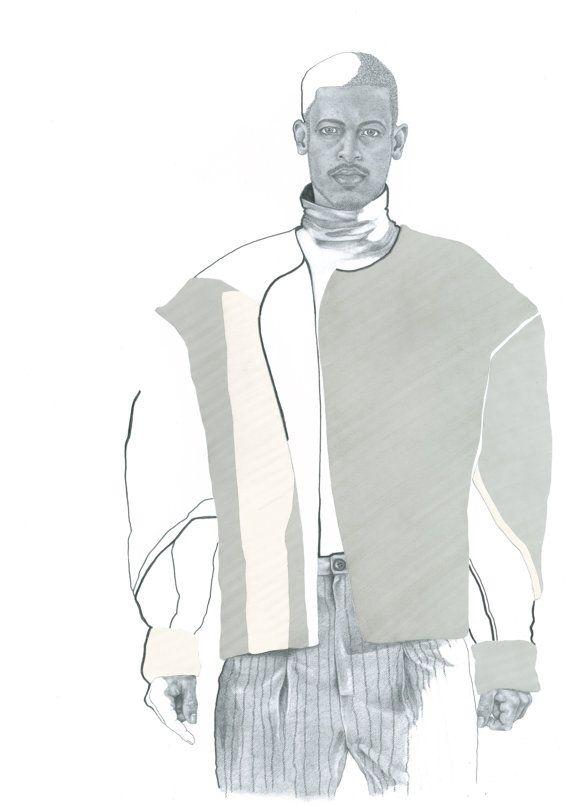 Fine Art Print from Original Menswear Fashion by KatieMunroPrints