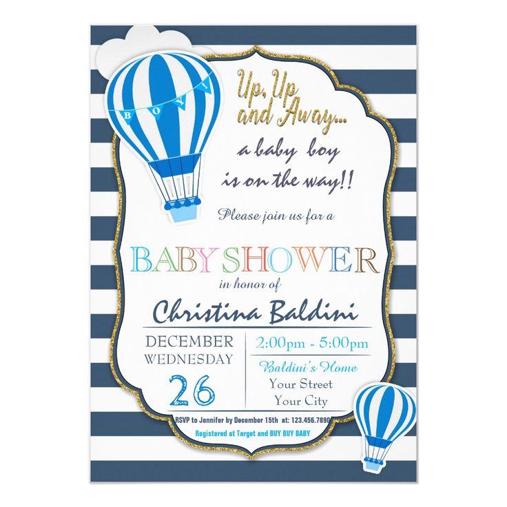 Hot Air Balloon Baby Shower Invitation | Zazzle.com in ...