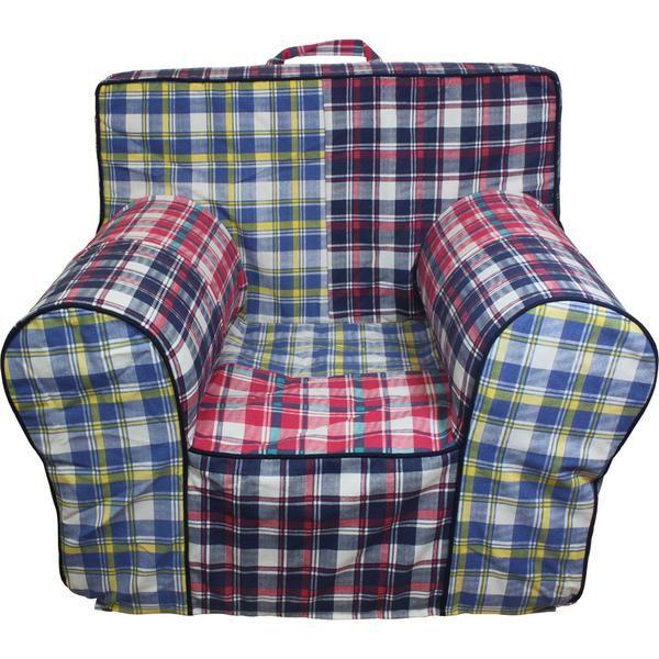 Navy Madras Chair Cover For Foam Childrens Chair. Patio Furniture CoversChair  SlipcoversChild ...