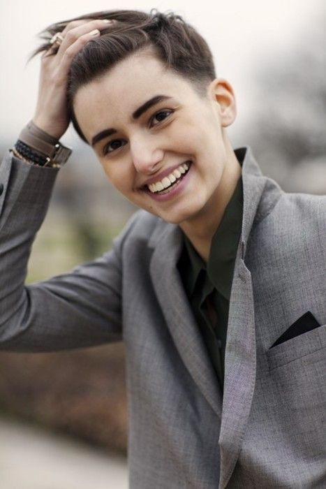 Best Adrogyny Images On Pinterest Hair Cut Androgyny And - Haircut girl model