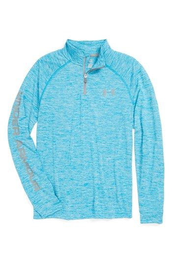 Under Armour HeatGear® Quarter Zip Tech Pullover (Big Boys) available at #Nordstrom