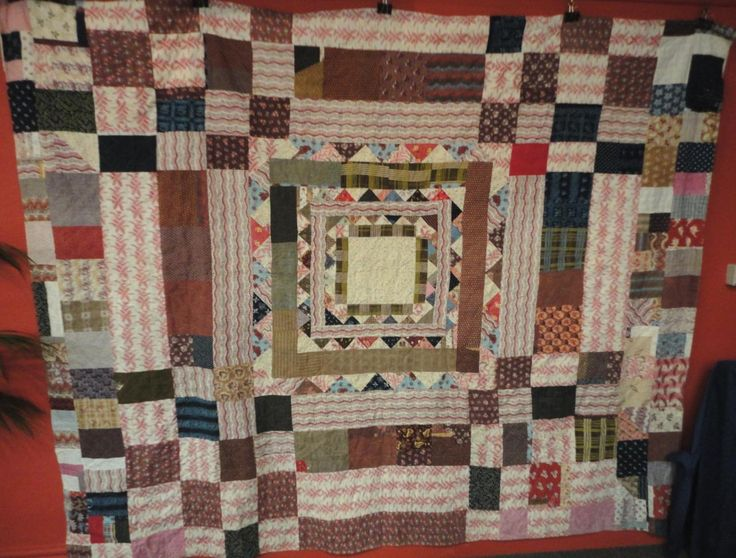 Tennants Auctioneers Large 19th Century Patchwork Quilt