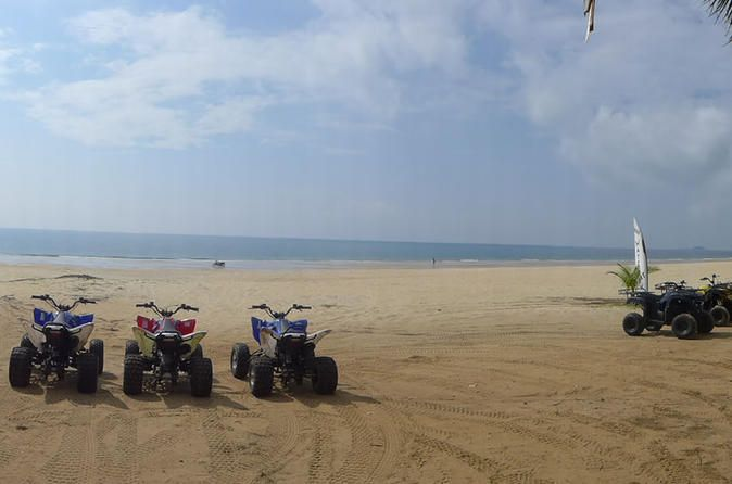 1-Hour ATV Ride in Cherating Join this 1-hour ATV tour to discover the nature of Malaysia beaches and forest. You will enjoy a fun ride on the wide open Cherating Village beach to see the beautiful beaches on a guided ATV ride.All the safety equipment will be provided, such as open face helmet and protections. You are recommend to wear long pant and long sleeves shirts.This ATV ride will bring you to the nearest fisherman village to get a glimpse of their daily life and then r...