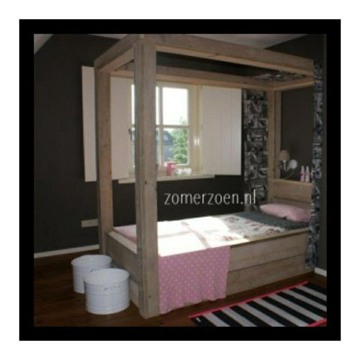 Mooi bed voor meisjes girls room pinterest bedden - Nachtkastje voor loftbed ...