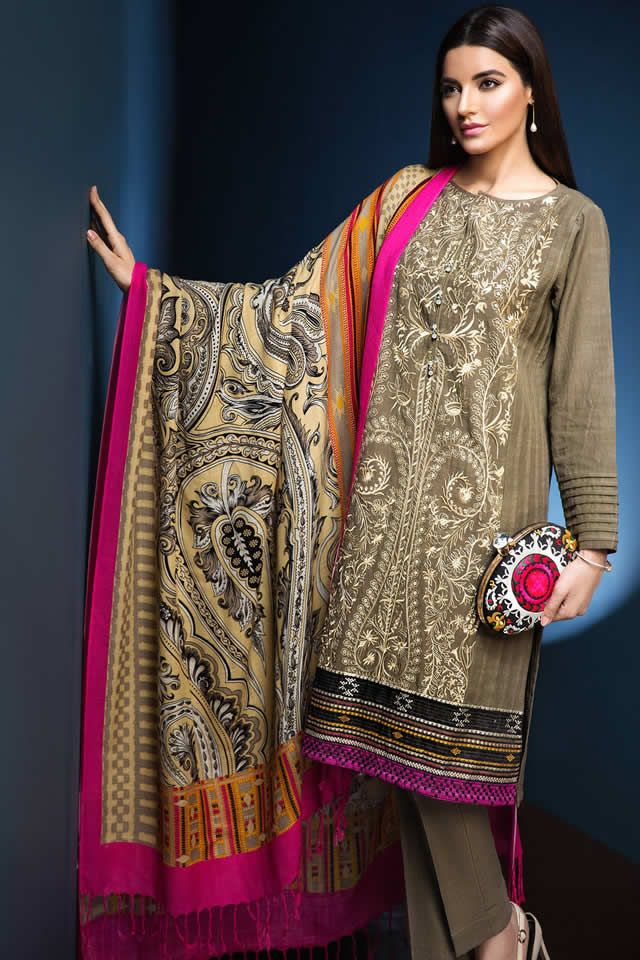 Khaadi Fancy Evening Winter Wear Dresses Collection 2017 4