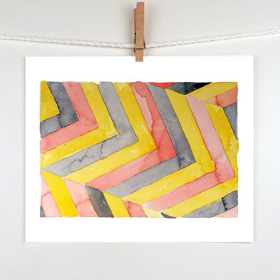 Abstract paintings Geometric painting  A print of a by LaBerge, $13.00